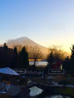 夕暮れ時の富士山 - No.955350