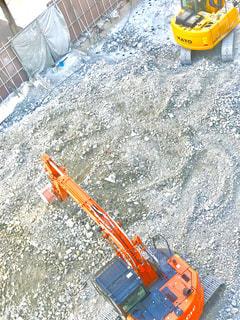 工事現場を上からパチリの写真・画像素材[1036578]