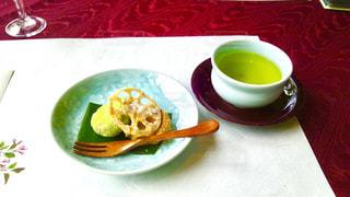 お茶とお茶菓子で一服の写真・画像素材[1046315]