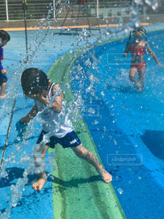 水色曜日は水遊び!の写真・画像素材[1363392]