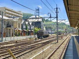 甲府駅、故郷のホームにての写真・画像素材[1393827]