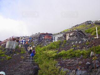 富士登山と山小屋の写真・画像素材[1403939]