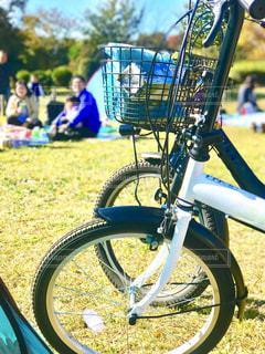 自転車と公園と家族レジャーの写真・画像素材[1654738]