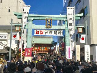 神田明神で商売繁盛の初詣です。の写真・画像素材[1728190]