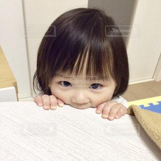 赤ちゃんの髪の毛が、サラサラフサフサで羨ましいの写真・画像素材[2283243]