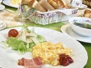 エコーバレー近くのペンションの朝食の写真・画像素材[2482842]
