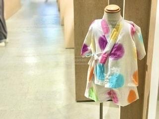 水玉模様の可愛い浴衣。の写真・画像素材[2491183]