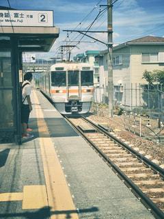 山梨身延線の鉄道の風景。少しレトロな感じの風情ある鉄道でした。の写真・画像素材[2905791]