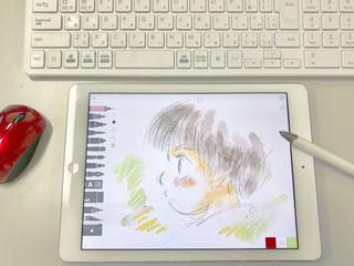 今時はお絵描きもタブレットコンピュータでの写真・画像素材[3221507]