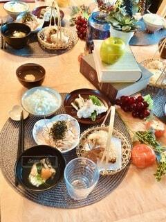 秋っぽく山芋を使った料理の数々の写真・画像素材[3736495]