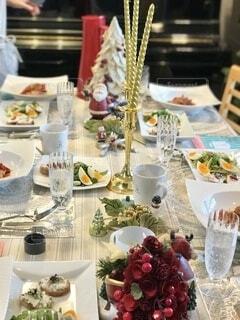 クリスマスパーティーのサラダの写真・画像素材[3894892]