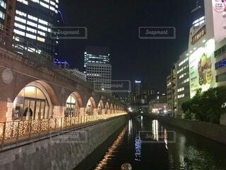 神田川沿いの夜景の写真・画像素材[4066635]