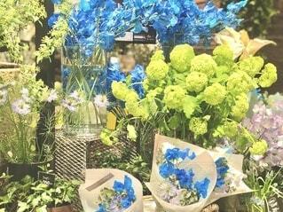 青い花束の写真・画像素材[4166757]