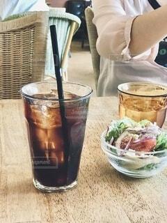 ひんやり、アイスコーヒーの写真・画像素材[4711955]