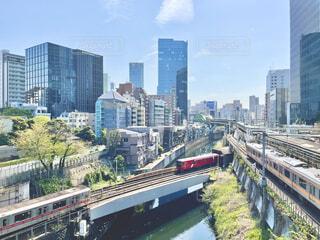 御茶ノ水から見た神田川と水色の風景の写真・画像素材[4838324]