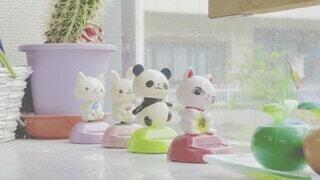 猫,かわいい,花瓶,オシャレ,人形,可愛い,お洒落,置き物,グッズ,漫画,おしゃれ,首振り