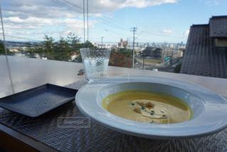 食べ物,海,空,山,皿,スープ,食器,レストラン