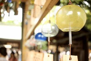 夏,青,黄色,風鈴,涼,川越,氷川神社,夏の風物詩