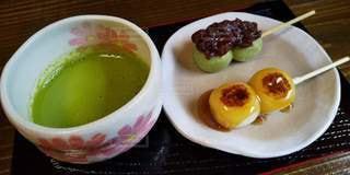 抹茶と団子の写真・画像素材[3086952]