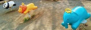 プラスチック製の公園の玩具の写真・画像素材[3088822]