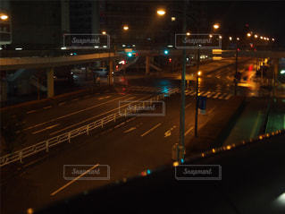 夜,屋外,車,道路,光,道,街灯,早朝,通り,深夜,交通