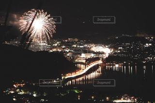 空,夜,屋外,花火,旅行,旅,景観