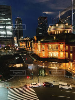 建物,夜,都会,高層ビル,都市の景観