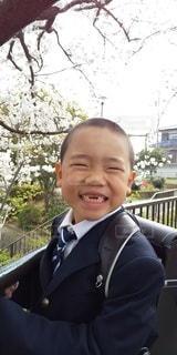子ども,桜,人,笑顔,少年,ランドセル,1年生