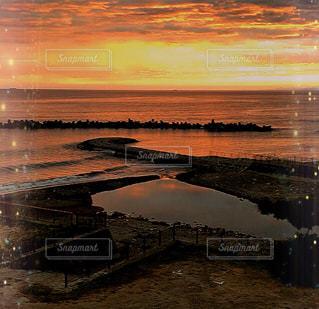 海に沈む夕陽❤️❤️❤️の写真・画像素材[3072803]