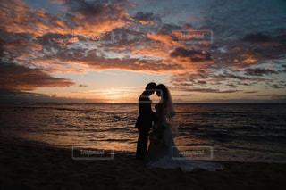 ハワイ島のサンセットの写真・画像素材[3069272]