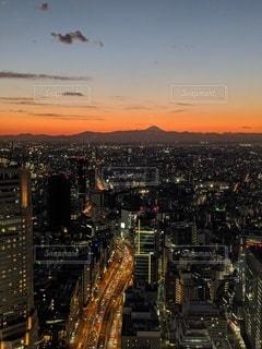 渋谷の夕焼けの写真・画像素材[3070364]