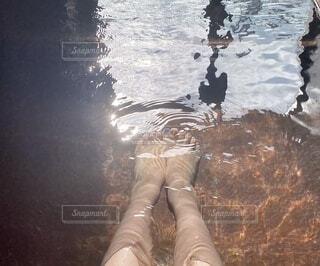 温泉の足湯の写真・画像素材[4195222]