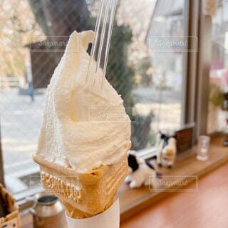 牧場のソフトクリームの写真・画像素材[4438178]