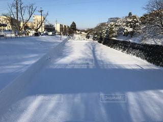 雪に覆われた道路の写真・画像素材[3176208]