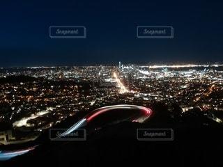夜,夜景,都会,旅行,サンフランシスコ,100万ドルの夜景