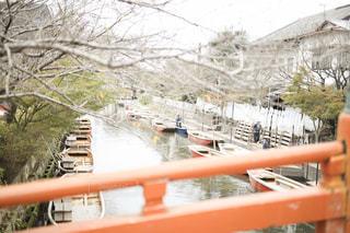 風景,冬,屋外,ボート,船,川,水面,福岡,川下り,柳川,フォトジェニック