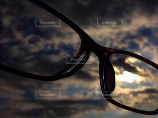 空眼鏡の写真・画像素材[3109237]
