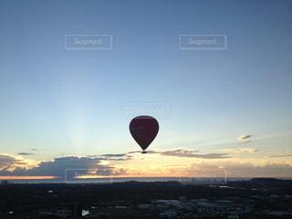 オーストラリア 気球からの朝焼けの写真・画像素材[3088161]