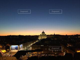バチカン市国とサンセットの写真・画像素材[3090409]