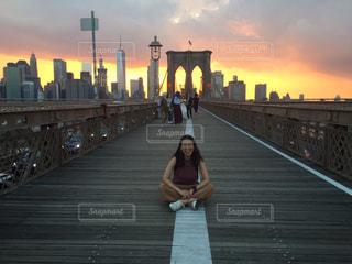 ニューヨーク ブルックリンブリッジの写真・画像素材[3090557]