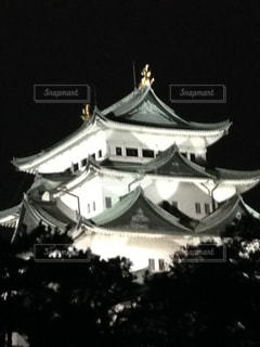 夜の名古屋城の写真・画像素材[3096840]