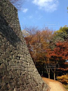 姫路城の石垣の写真・画像素材[3096844]