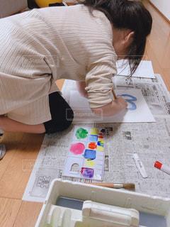 カラフル,絵の具,アート,子供,人,手書き,紙,筆,おえかき,ふで,画用紙,おうち時間