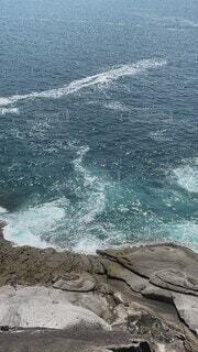 自然,風景,海,屋外,ビーチ,岩場,波,水面,海岸,岩,崖,波打ち,鬼ヶ城