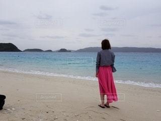 海とピンクの写真・画像素材[3116261]