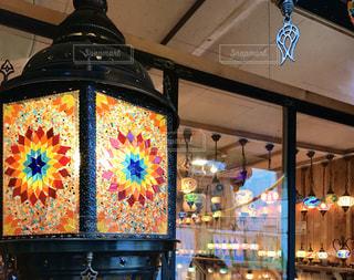 花柄ランプの写真・画像素材[3138811]