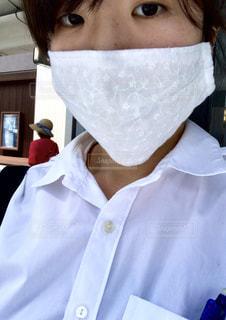 夏用レースマスクの写真・画像素材[3279053]