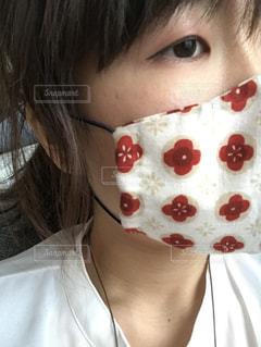 ガーゼハンカチで作った花柄マスクの写真・画像素材[3279052]