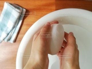 洗面器と石鹸01の写真・画像素材[3188196]