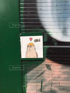 通りにあったシールの写真・画像素材[3097422]